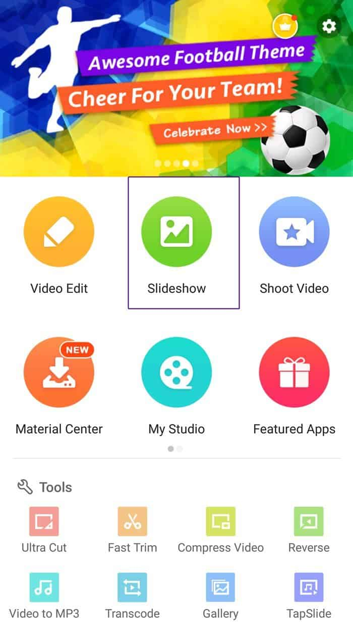 Image 3: How to Make a Slideshow with Music on Android