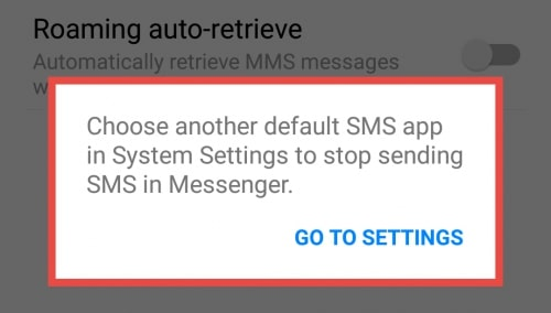 Image 6: How to Disable the SMS Feature in Facebook Messenger