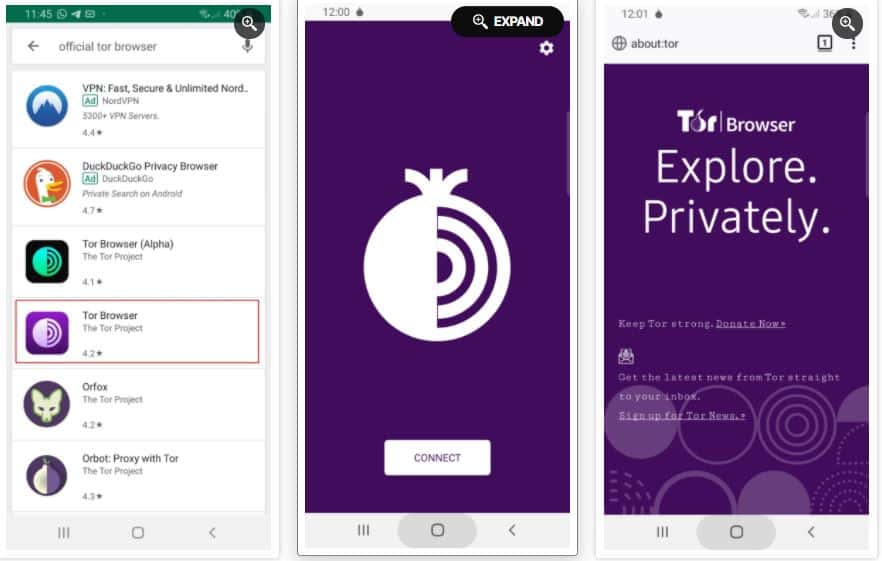 Image 2: How to Use the Tor Browser & Download Safety in Android